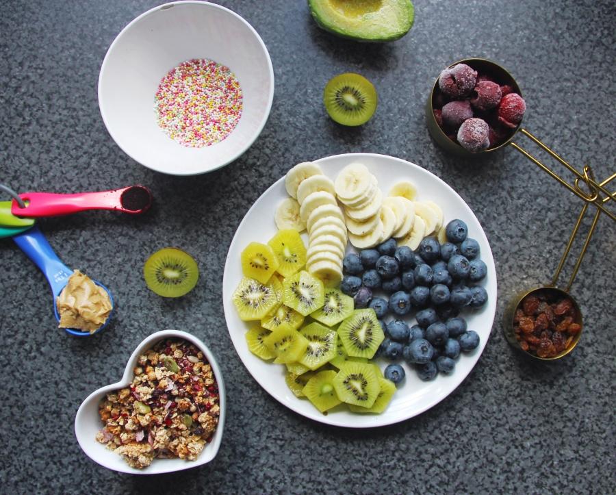 ingrediants for breakfast bowl