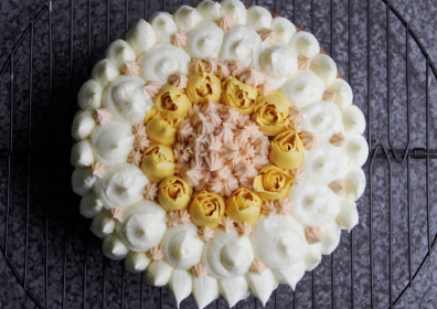 Carrot Cake with customised icing design