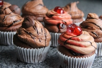 Chocolate cupcakes and Chocolate and Cherry Cupcakes