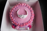 Princess birthday cake. Vanilla sponge with raspberry jam filling