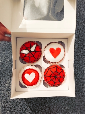 Spiderman Valentines Day Cupcakes for Him